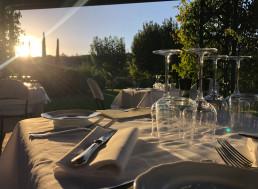 pranzo in giardino ristorante la vecchia posta bagni vignoni